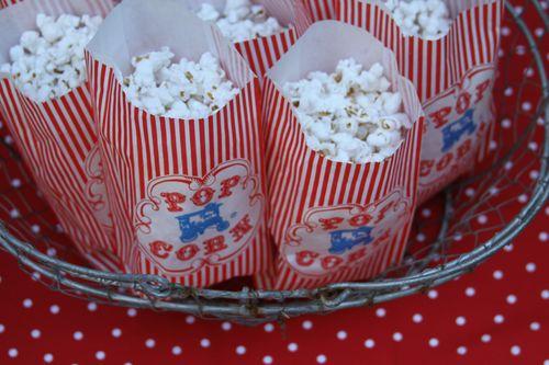 Vintage carnival popcorn bags