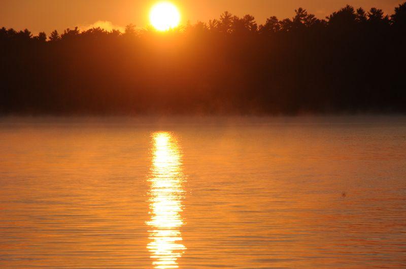 Squam lake sunrise