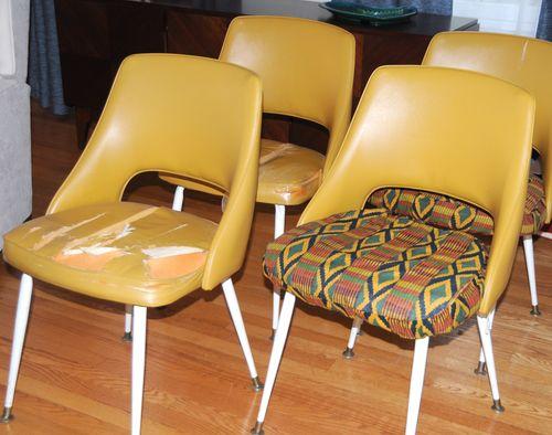 60's vinyl chairs