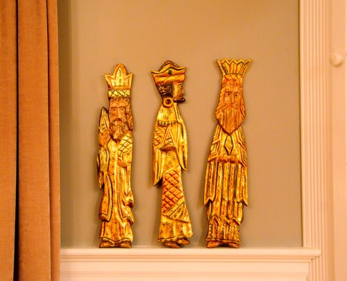 mid century wooden wise men