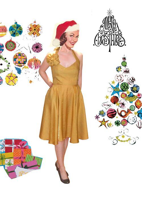 vintage Christmas Dress