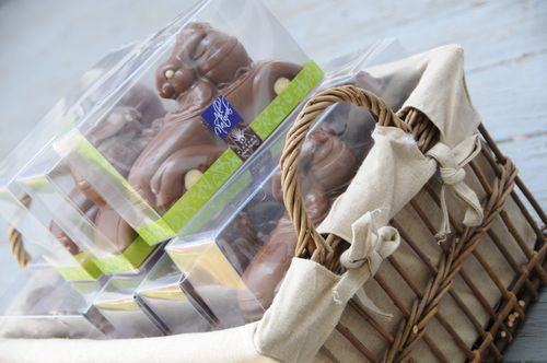 basket of chocolate easter bunnies