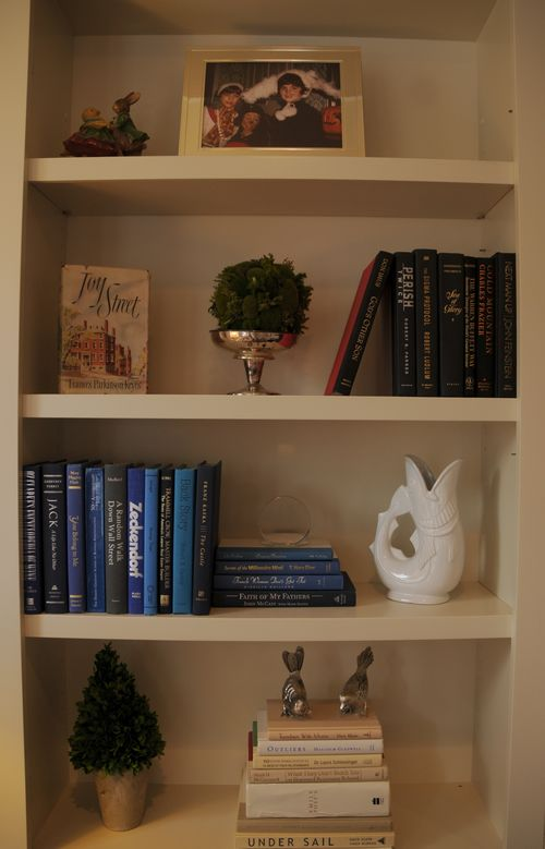 accessorized book shelf