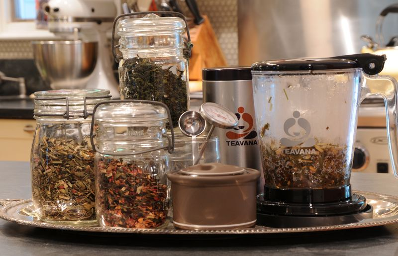 Tea in mason jars