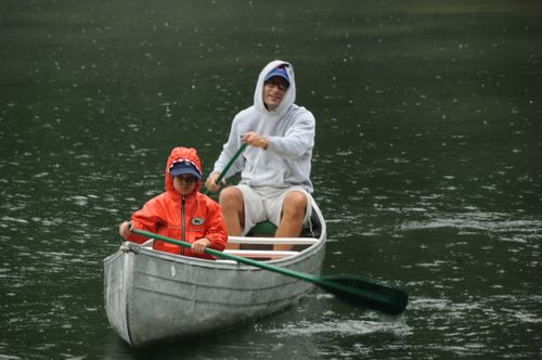 Rainy day canoe