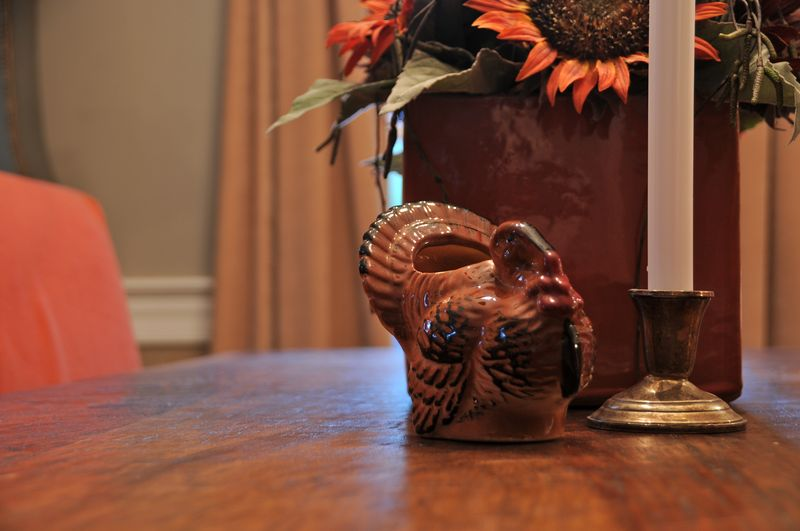 vintage turkey planter