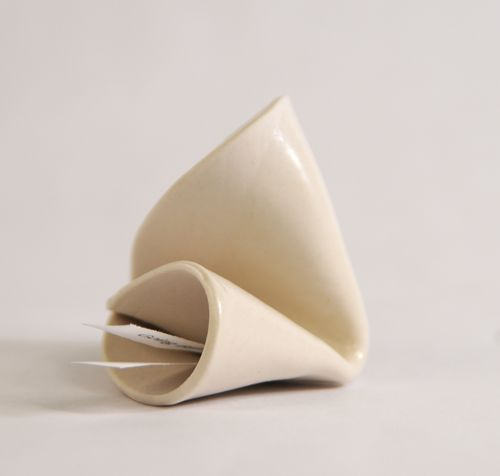 Porcelin fortune cookie